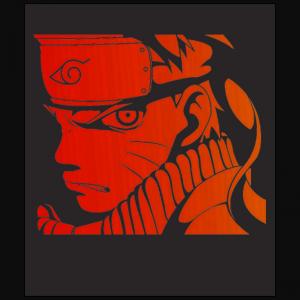 Uzumaki Naruto Konoha leaf shinobi black t-shirt free shipping