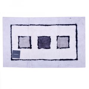 Tappeto da bagno in spugna di cotone 50x80 cm Carrara LINZ grigio