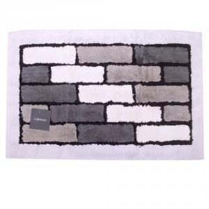 Tappeto da bagno in spugna di cotone 50x80 cm Carrara VIENNA grigio