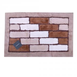 Tappeto da bagno in spugna di cotone 50x80 cm Carrara VIENNA marrone