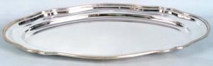 Vassoio ovale Argentato Argento Sheffield Stile regina anna cm.50x31x3h