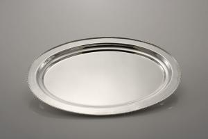 Vassoio ovale Argentato argento stile Perles Sheffield cm.38x26