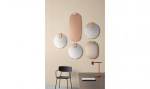 Specchio Clip ovale