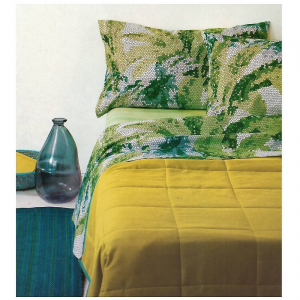 Blattset Bassetti double Palmeras v2 grünes Mosaik