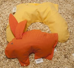 Pupazzo Coniglietto Scaldasonno+ Mezzaluna Baby con Pula di Farro Biologica
