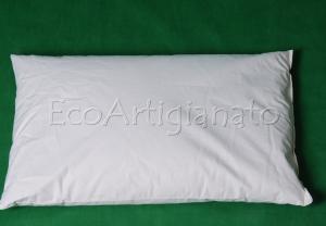 Cuscino Letto 70x45  Cotone Naturale e Pula Di Farro Biologica