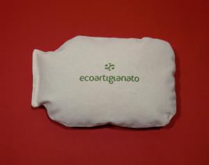 Cuscino Riscaldante Boule Cotone e Pula di Farro Biologica con logo