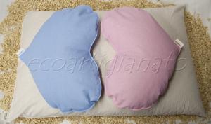 Cuscino Letto + 2 Cuscini Cuore in Pula di Farro Bio