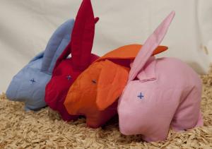4 Coniglietti Scaldasonno con Pula di Farro Biologica