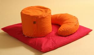 Cuscini Meditazione Yoga + Tappetino con Pula di Farro Biologica