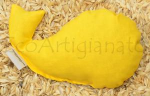 Pesce Poggiapolso Mouse o Cuscino Caldo/Freddo Con Pula di Farro Bio