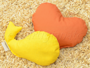 Cuoricino e Pesciolino poggiapolso con pula di farro bio