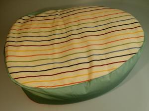 Cuscino massaggio neonatale con pula di farro