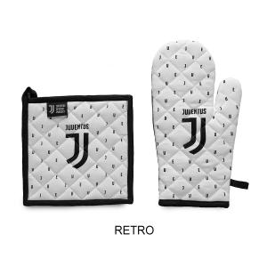 JUVE Guanto da forno + Presina Originale Juventus set barbecue Ufficiale