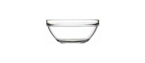 Coppa Macedonia Gelato in vetro impilabile 6 pezzi cm.4,3h diam.10