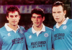 1995-96 Napoli Maglia Home MATCH WORN #16 XL (Top)