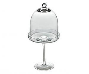 Alzata con campana in vetro cm.23h diam.11,5