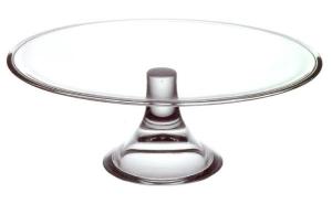 Alzata piatto in vetro per torta cm.10h diam.32