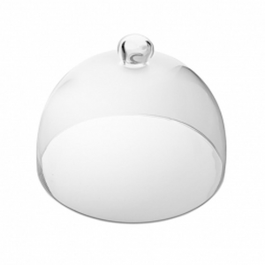 Campana Cloche Coprivivande in vetro cm.16,5h diam.23