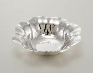 Cesto tondo stile 700 argentato argento sheffield cm.8h diam.35