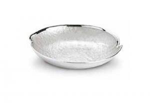 Ciotola madreperla in vetro e argento cm.diam.21