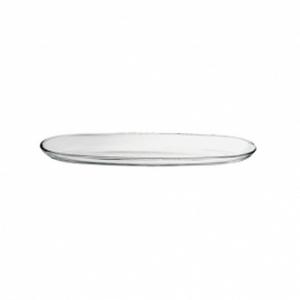Piatto ovale in vetro cm.41x11,5