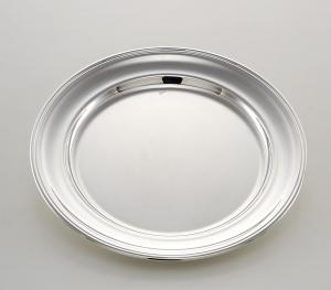 Piatto tondo portata stile Inglese argentato argento sheffield cm.diam.25
