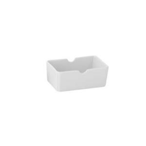 Porta bustine da zucchero e tè in porcellana bianca cm.10x6x4h