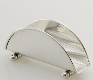 Portasalviette stile Cardinale argentato argento sheffield cm.14x5x4,5h