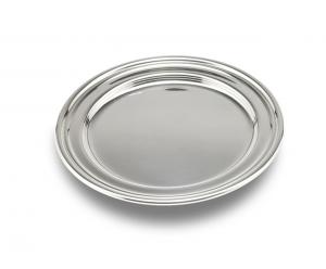 Sottobottiglia argentato argento stile Inglese cm.0,5h diam.14