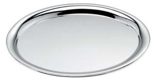 Vassoio ovale cromato cm.32x23x1,5h