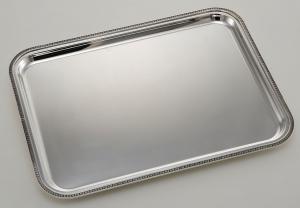 Vassoio rettangolare argentato argento stile Impero