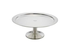 Vassoio tondo da buffet con base argentato argento stile Cardinale cm.13h diam.34