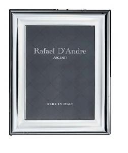 Cornice Portafoto in Argento liscia retro in legno cm.13x18h