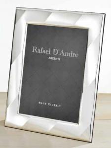 Cornice Portafoto in Argento retro in legno cm.10x15h