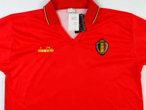 1991-92 Belgio Maglia Home XL *Cartellino