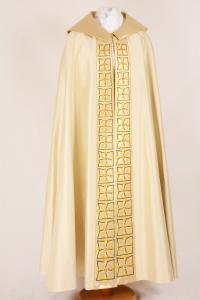 Piviale P156 M8 Croci Fiore Bianco - Pura Seta