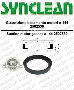 Guarnizione basamento motore aspirazione diametro 144 cod:  2502530 - Ricambi Accessori per aspirapolvere