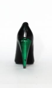 Decollete nero con tacco smeraldo Guess