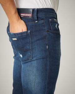 Jeans J13 slim-fit lavaggio medio-scuro con abrasioni