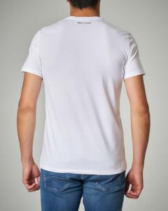 T-shirt bianca in cotone con stampa astronauta