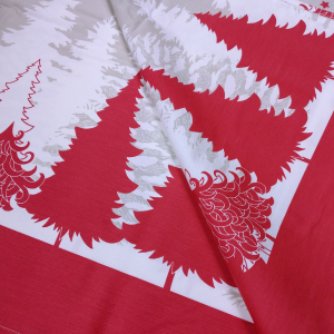 Tovaglia natalizia con tovaglioli rettangolare 150x270 cm TAG HOUSE - COCOON