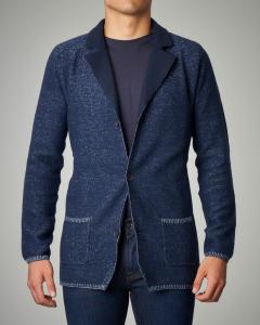 Giacca in maglia blu
