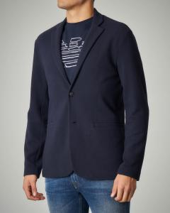 Giacca maglia blu