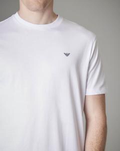 Doppia t-shirt bianca in cotone