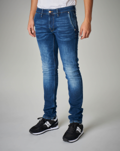 Jeans tasca america con sbiancature