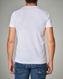 T-shirt bianca con maxi-logo aquila
