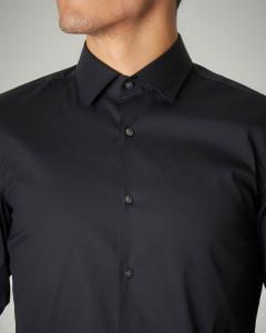 Camicia nera stretch