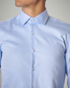 Camicia azzurra in puro cotone