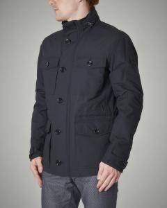 Field Jacket blu in cotone